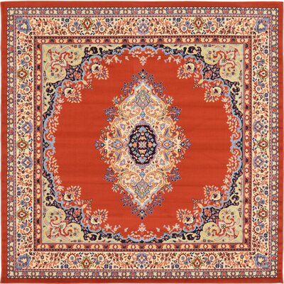 Astral Terracotta Area Rug Rug Size: Square 8