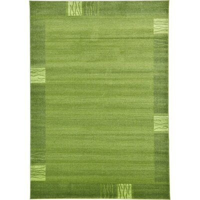 Christi Green Color Bordered Area Rug Rug Size: 7 x 10