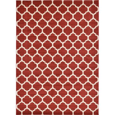 Emjay Rust Red Area Rug Rug Size: 10 x 14