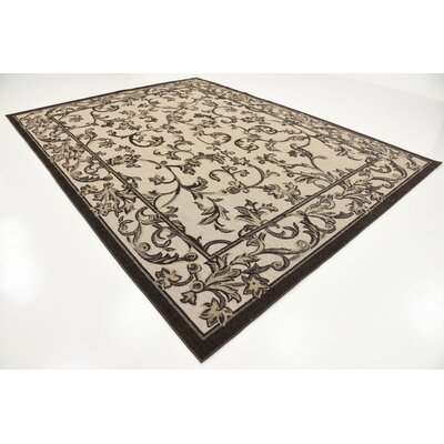 Augustine Beige Indoor/Outdoor Area Rug Rug Size: 9 x 12