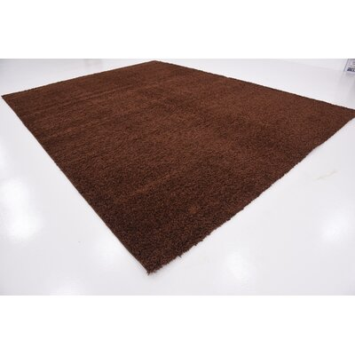 Chandler Solid Shag Brown Area Rug Rug Size: 10 x 13