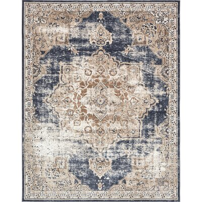 Abbeville Blue Area Rug Rug Size: 8 x 10
