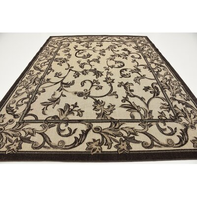 Augustine Beige Indoor/Outdoor Area Rug Rug Size: 8 x 10