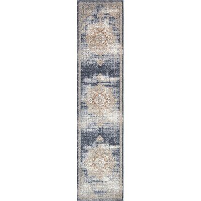 Abbeville Blue Area Rug Rug Size: Runner 3 x 13