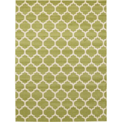 Emjay Light Green Area Rug Rug Size: 9 x 12