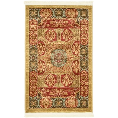 Laurelwood Red Area Rug Rug Size: Rectangle 2 x 3