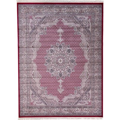 Layton Red Area Rug Rug Size: 9'10