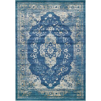 Jae Navy Blue Tibetan Area Rug Rug Size: Rectangle 7 x 10
