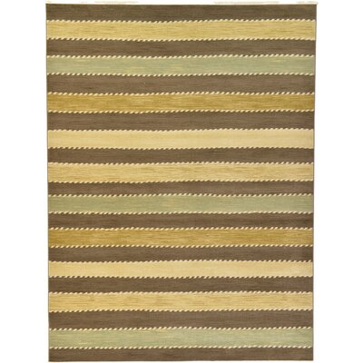 Langham Brown Area Rug Rug Size: 9 x 12
