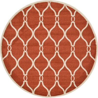 Molly Terracotta Area Rug Rug Size: Round 6