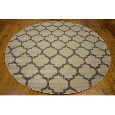 Moore Beige Area Rug Rug Size: Round 10
