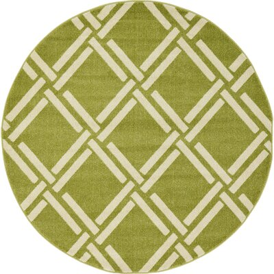 Storyvale Green Area Rug Rug Size: Round 6