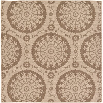 Foreside Beige Outdoor Area Rug Rug Size: Square 6