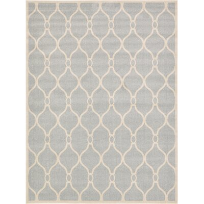 Moore Light Gray Area Rug Rug Size: 9 x 12