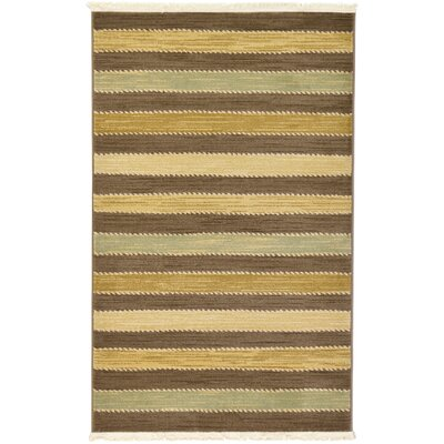 Langham Brown Area Rug Rug Size: 33 x 53