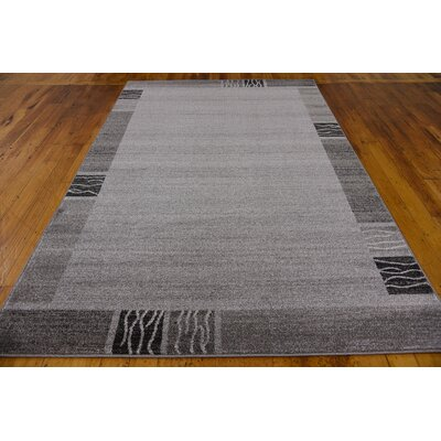 Christi Gray Solid Area Rug Rug Size: Rectangle 9 x 12