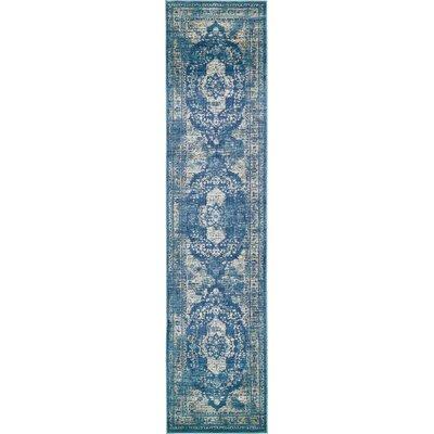 Jae Navy Blue Tibetan Area Rug Rug Size: Runner 3 x 13