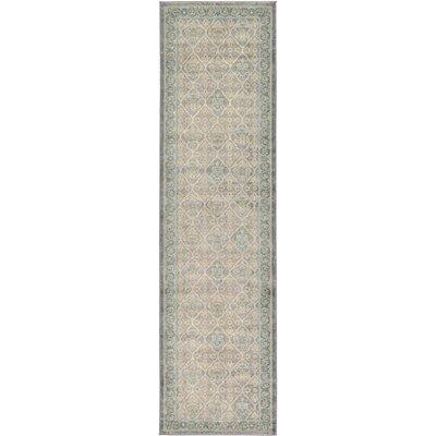 Kerensa�Gray Area Rug Rug Size: Runner 27 x 10