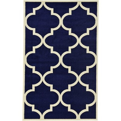 Moore Navy Blue Area Rug Rug Size: 5' x 8'