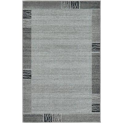 Christi Gray Solid Area Rug Rug Size: 33 x 53
