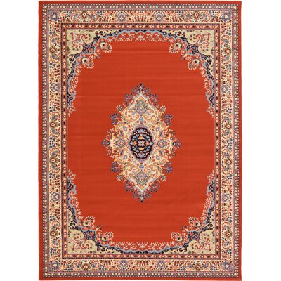 Astral Terracotta Area Rug Rug Size: Rectangle 9 x 12