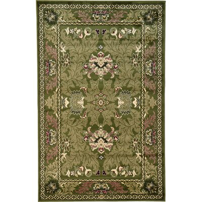 Farley Green Area Rug Rug Size: Rectangle 5 x 8