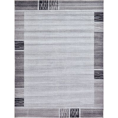 Christi Gray Solid Area Rug Rug Size: Square 8