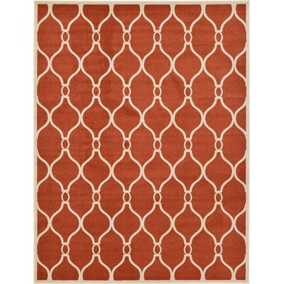 Molly Terracotta Area Rug Rug Size: 9 x 12