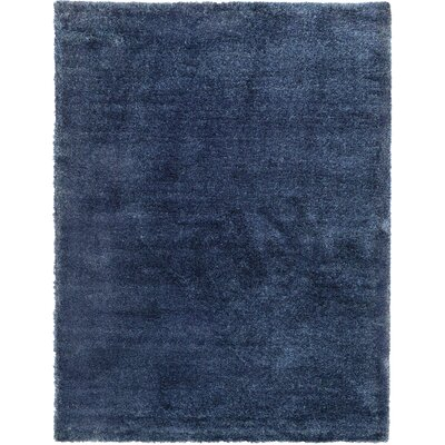 Evelyn Navy Blue Area Rug Rug Size: 9 x 12