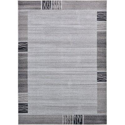 Christi Gray Solid Area Rug Rug Size: 7 x 10