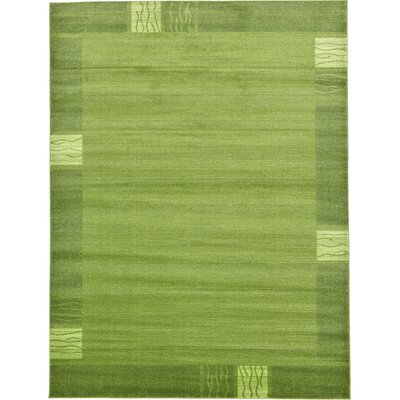 Christi Green Color Bordered Area Rug Rug Size: 9 x 12