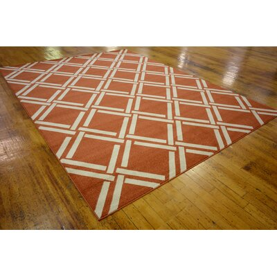 Seagate Rust Red Area Rug Rug Size: 9 x 12