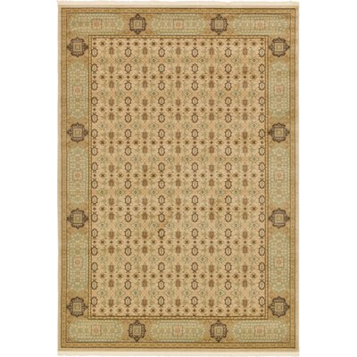 Laurelwood Cream Area Rug Rug Size: 7 x 10