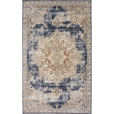 Abbeville Blue Area Rug Rug Size: 5 x 8