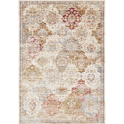 Lynda Beige Area Rug Rug Size: Rectangle 7 x 10