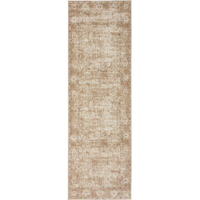 Abbeville Machine Beige Woven Area Rug Rug Size: Runner 22 x 67