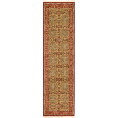 Laurelwood Red Area Rug Rug Size: Runner 27 x 10