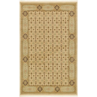 Laurelwood Cream Area Rug Rug Size: 5 x 8