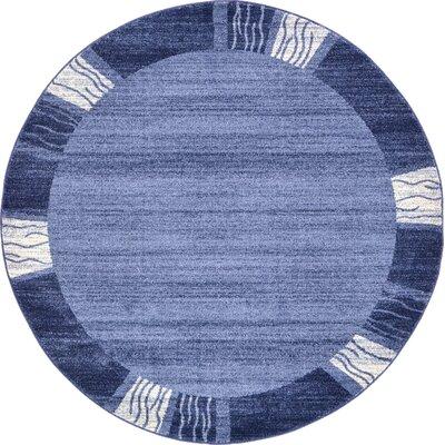 Christi Light Blue Area Rug Rug Size: Round 8