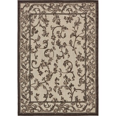 Augustine Beige Indoor/Outdoor Area Rug Rug Size: Rectangle 5 x 8