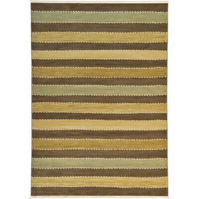 Langham Brown Area Rug Rug Size: 7 x 10