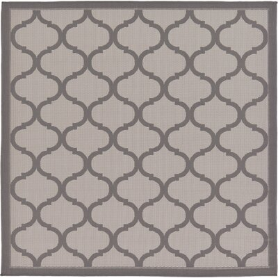 Unionville Gray Outdoor Area Rug Rug Size: Square 6