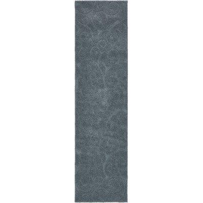 Billingsley Floral Blue Area Rug Rug Size: Runner 27 x 10
