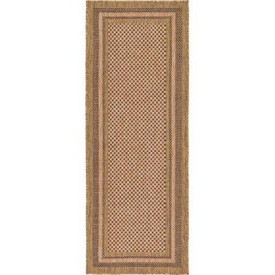 Rockwood Light Brown Outdoor Area Rug Rug Size: Runner 22 x 6