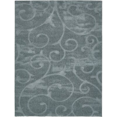 Billingsley Floral Blue Area Rug Rug Size: Rectangle 8 x 10