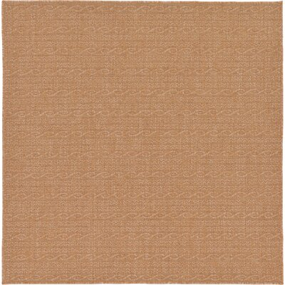 Dresden Light Brown Outdoor Area Rug Rug Size: Square 6