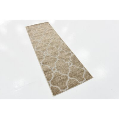 Garrity Brown Indoor/Outdoor Area Rug Rug Size: Runner 2 x 6