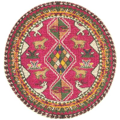 Phillips Pink Area Rug Rug Size: Round 6