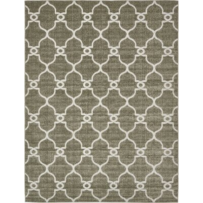 Garris Brown Indoor/Outdoor Area Rug Rug Size: 9 x 12