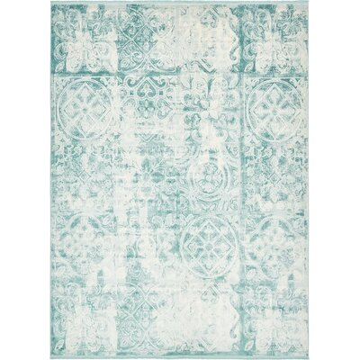 Jacobson Floral Blue Area Rug Rug Size: 7 x 10